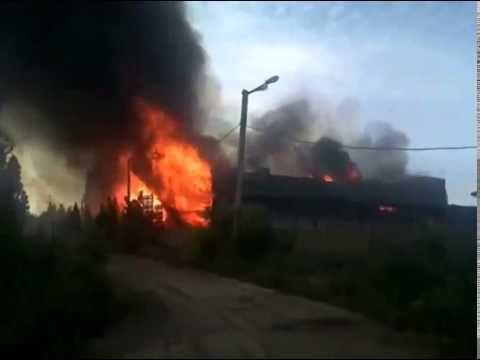 Ukraine War News ~  Exploded warehouse is burned Dobropole, Donetsk   Ju...
