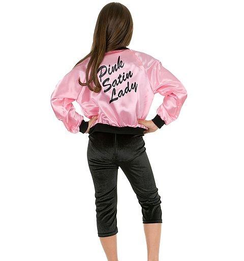 Pink Satin Ladies Jacket Costume