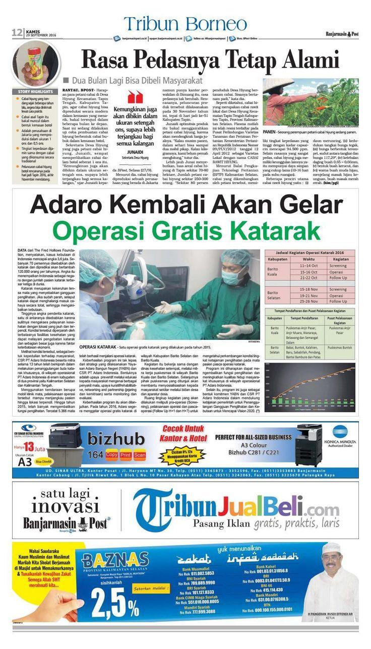 #ClippedOnIssuu from Banjarmasin Post Senin 29 September 2016