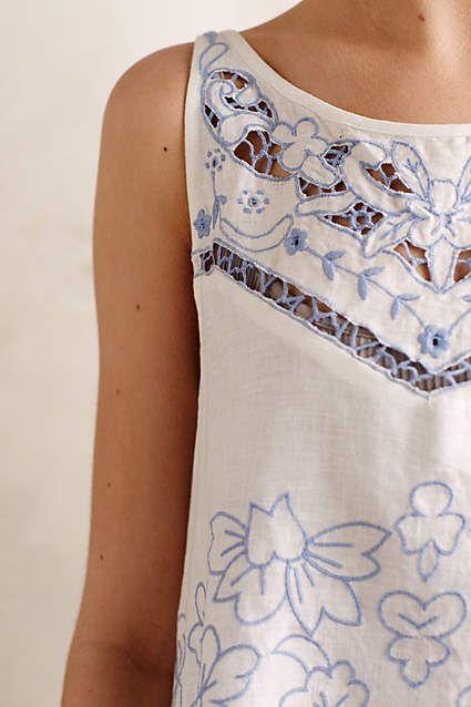 Bellflower Linen Tunic - anthropologie.com