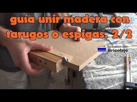 Cómo hacer una guía para unir madera con tarugos o espigas. 2/2
