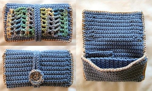 This Clutch Wallet crochet pattern is easy to crochet, and looks beautiful. It involves simple sewing. Free PDF Pattern.