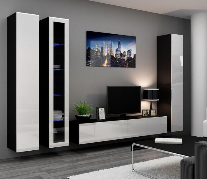 Die besten 25+ Wohnwand weiß hochglanz günstig Ideen auf Pinterest - wohnzimmermöbel weiß hochglanz