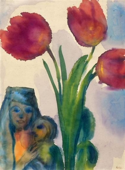 Madonna mit Tulpen (Madonna with tulips) - Emil Nolde