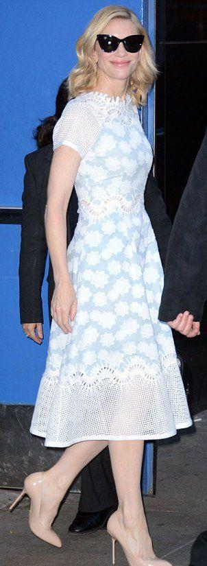 Cate Blanchett in Jonathan Simkhai outside 'Good Morning America'. #bestdressed