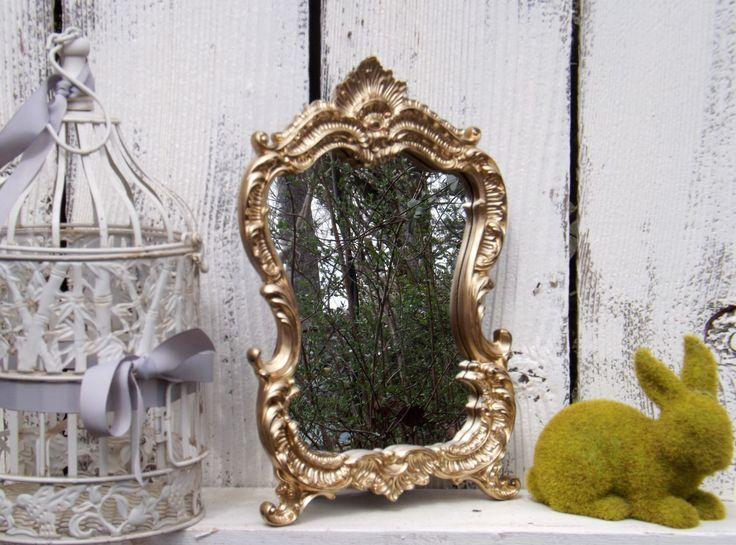 GOLD Baroque Style Mirror / Dresser Mirror / Princess Mirror / Gold  Mirror / Decorative Mirror / Vanity Mirror by Theshabbyshak on Etsy https://www.etsy.com/listing/273102378/gold-baroque-style-mirror-dresser-mirror
