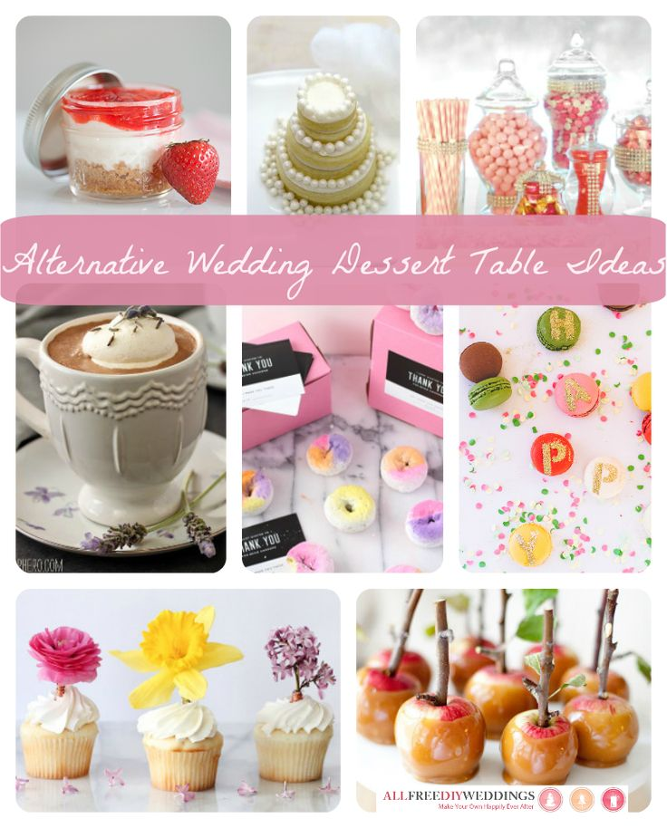 Dare To Be Different: 8 Awesome Alternative Wedding Dessert Table Ideas