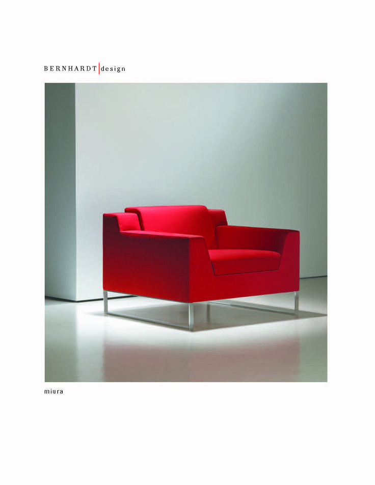 Bernhardt Miura Upholstered Lounge Chair Red Reception