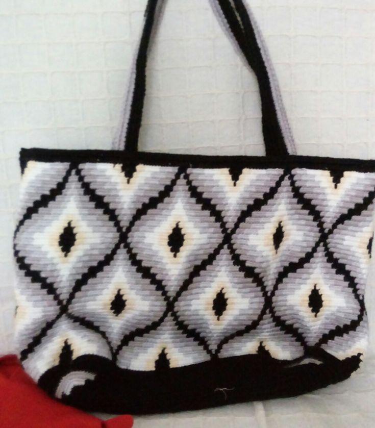 Elyapımı tığişi örgü çanta handmade crochet crochettingbag bargello