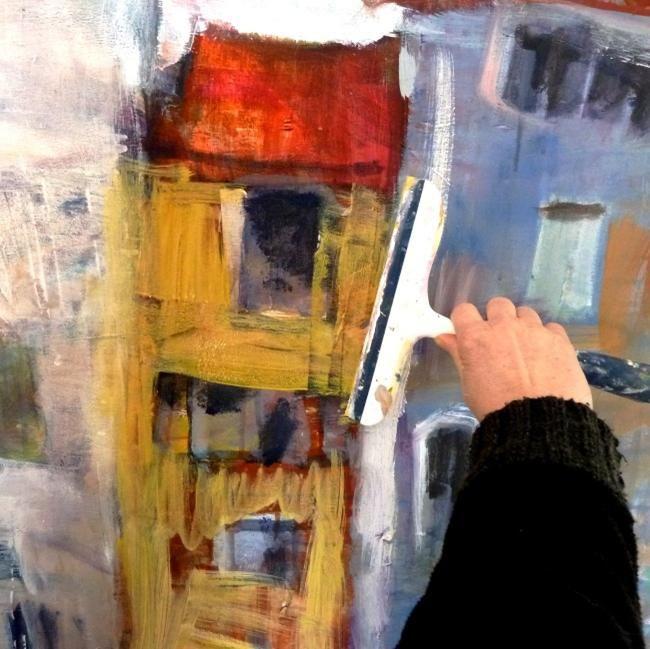 wepaint.dk kursus husvild, sådan maler du med en vinduesskraber!