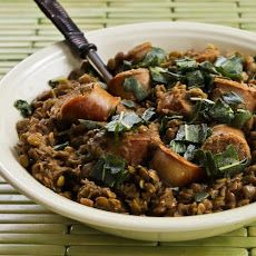 Sausage and Lentils with Fried Sage Recipe