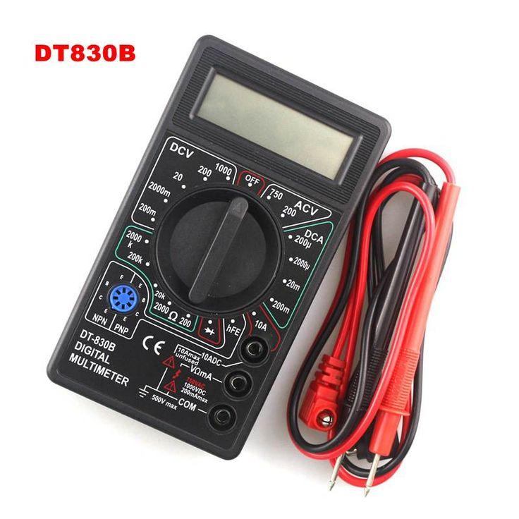 New Professional LCD Digital Multimeter Tester Meter Voltmeter Ammeter Ohm DT830B Free Shipping