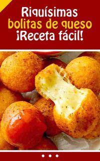 Riquísimas bolitas de queso. Receta fácil. #bolitos #cena #receta #facil #queso