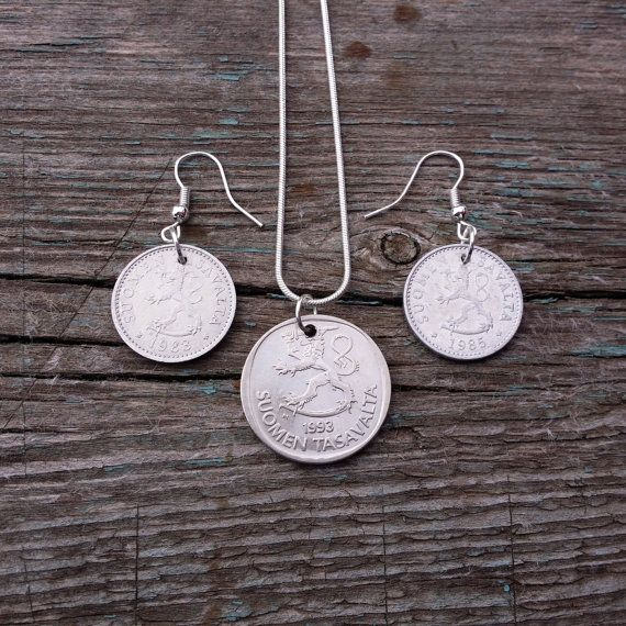 Set Coin jewelry. Coins of Finland. Jewelry от JewelryForYourself