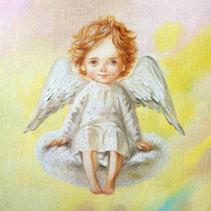 Картинки красивые ангелочки рисованные
