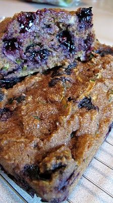 Zucchini Blueberry Bread, gluten free bread, gluten free snack,