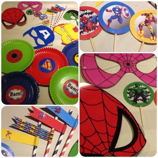 Superhero Party Supplies - Batman, Superman, Spiderman! www.suchfun.co.za