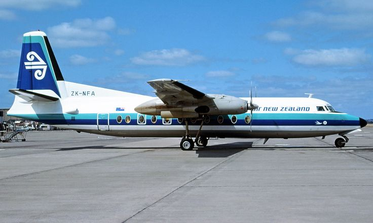 We flew with Air New Zealand on a Fokker 27 from Auckland to New Plymouth in 1979.