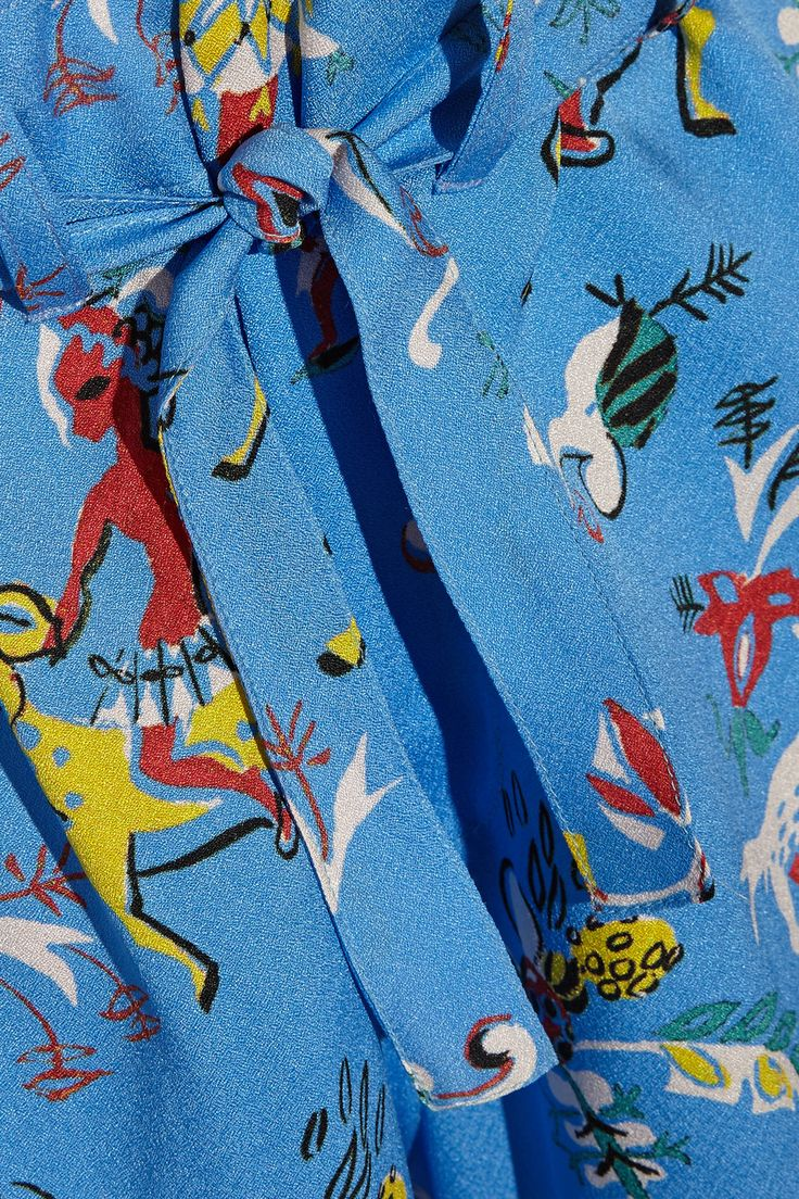 EtroCropped printed silk wide-leg pantsclose up