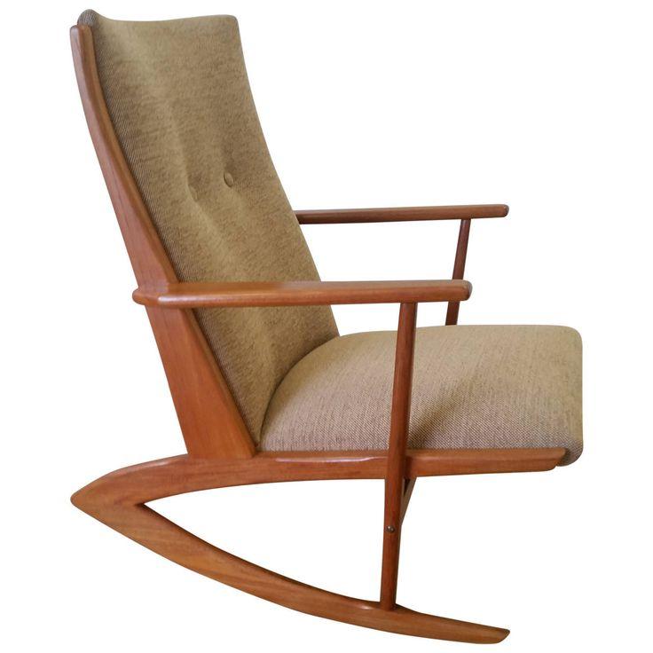 Søren Georg Jensen Mid-20th Century Design Boomerang Rocking Chair