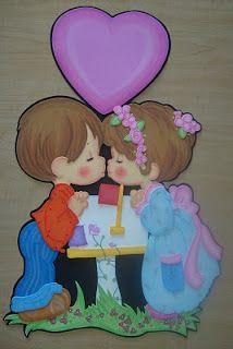 Amor y Amistad, precious moments en foami