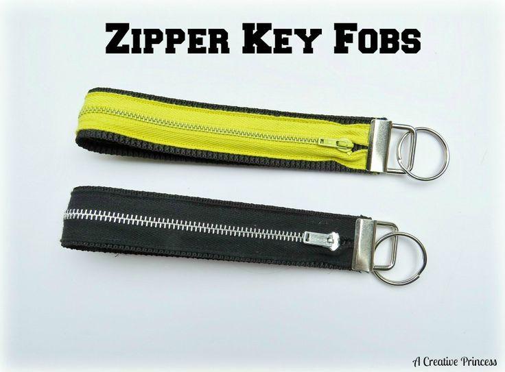 A Creative Princess: Let's Talk Key Fobs.. Zipper key fobs. Great for quick cash.
