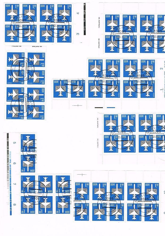 DDR 1984 Briefmarken Flugpostmarken Luftpost Flugzeug in sehr gutem Zustand