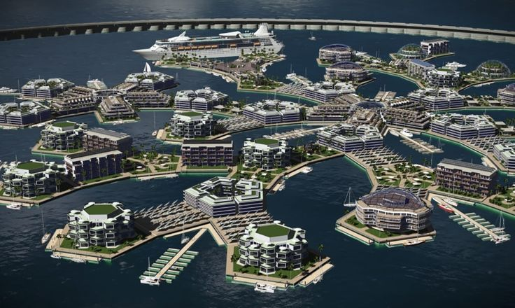 The Seasteading Institute said the sheltered waters in the Pacific Island nation were ideal for their floating city concept.