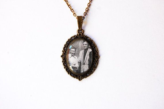 June Carter and Johnny Cash, 1956 - Handmade Vintage Cameo Pendant Necklace - Retro Valentine Jewelry