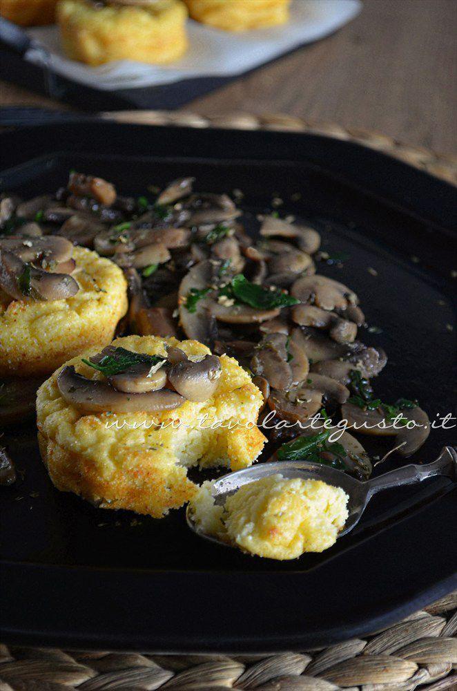 Sformatini di patate con funghi