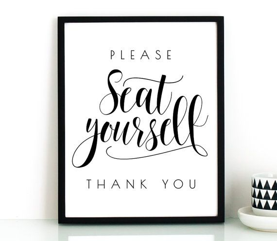 Please Seat Yourself Bathroom Wall Decor Printable Art Funny Bathroom Art Restaurant Decor Bathroom Signs Bathroom Prints Washroom