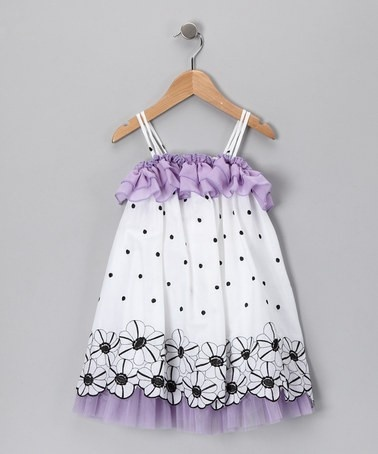 Favorite Places & Spaces / Take a look at this Purple Flower & Polka Dot Dress - Toddler & Girls  by Funkyberry on  today!