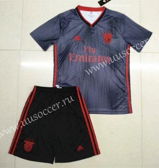 best service 19096 e77f7 2019-2020 Benfica Away Gray Soccer Uniform | 2018-2019 Rugby ...