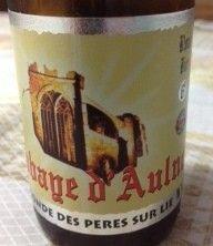Cerveja Abbaye D´Aulne Blonde des Pères Sur Lie, estilo Belgian Blond Ale, produzida por Brasserie du Val de Sambre, Bélgica. 6.3% ABV de álcool.