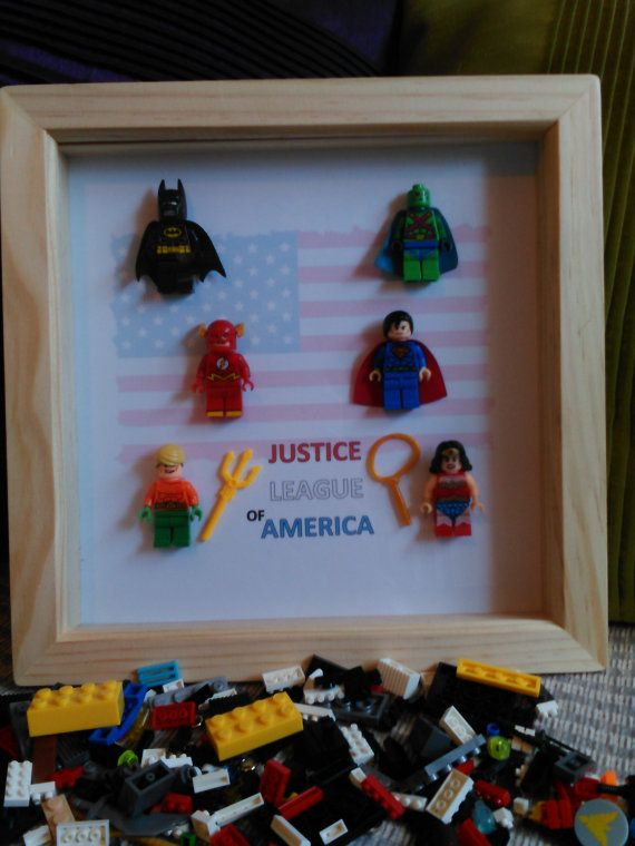 Handmade Brick Figure Art 'The Justice League by DanMakesWithLove