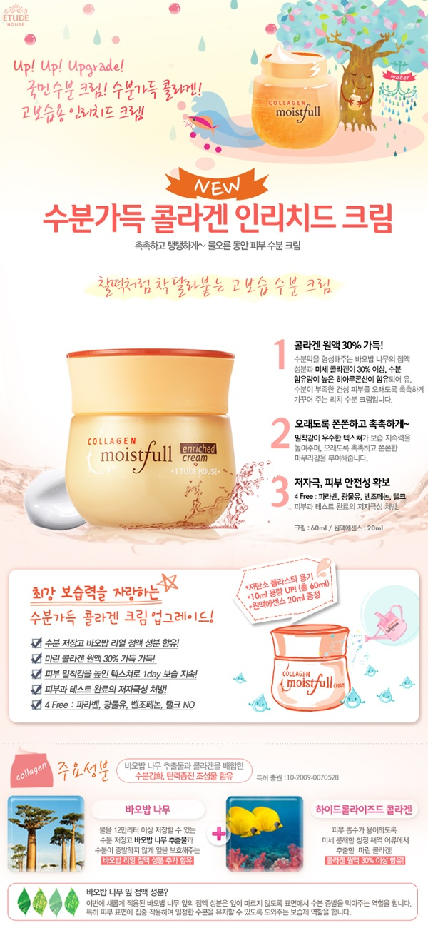[Etude House] Moistfull Collagen Enriched Cream Set
