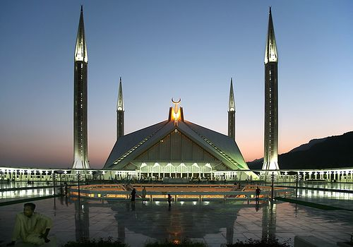 Faisal Masjid in Islamabad, Pakistan. This masjid was sooo beautiful!