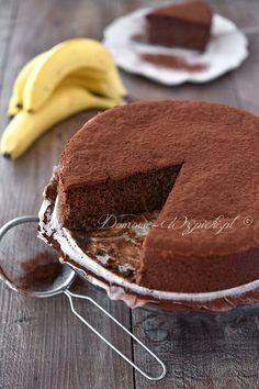 Piankowe ciasto czekoladowo- daktylowo- bananowe