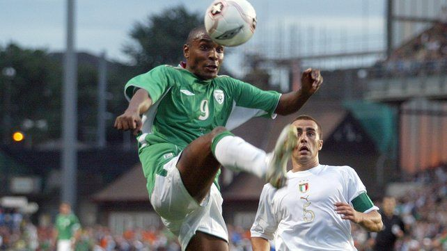 Clinton Morrison says he came from 'south London with a bit of an attitude'; he scored nine goals in 36 games for Ireland - not a bad record