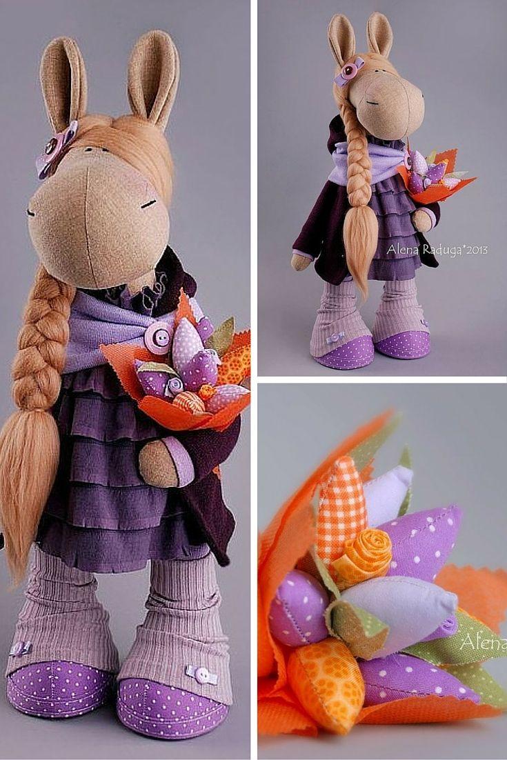 Horse doll handmade, tilda doll, horse toy, horse handmade, textile horse