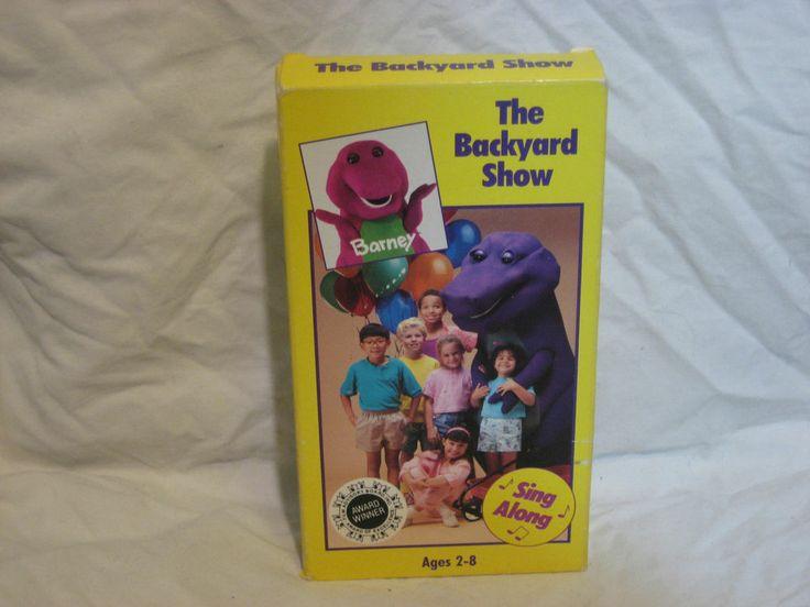 Barney - The Backyard Show (VHS, 1988) | Backyards, Kid ...