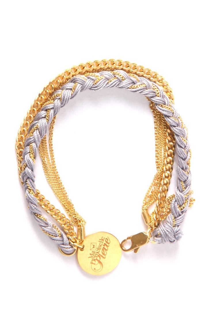 Bracelet Cocoon Gris - Mademoiselle Pierre
