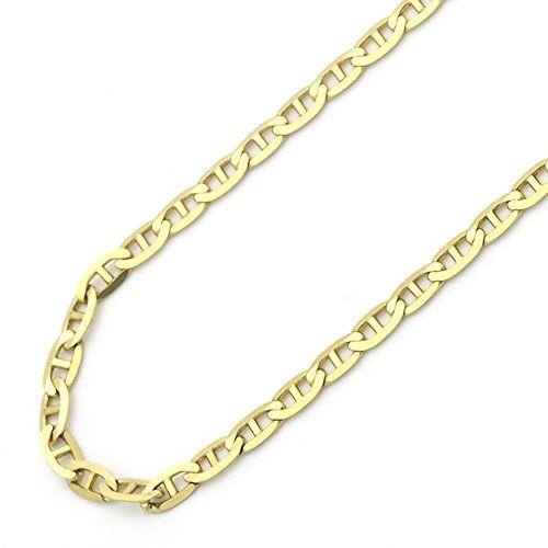 sale 14k gold 2mm italian flat mariner link chain
