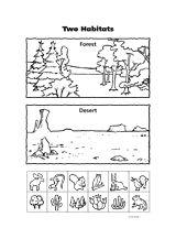 two habitats animal habitats biomes and worksheets. Black Bedroom Furniture Sets. Home Design Ideas