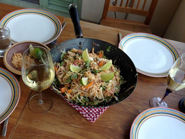 Vegetarisk Pad Thai - jättegott och enkelt!