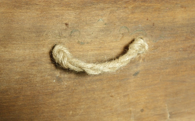 Twist and knot diy  jute twine handles to add to nautical, beach style or rustic furniture; cost effective too!  Upcycle, Recycle, Salvage, diy, thrift, flea, repurpose!  For vintage ideas and goods shop at Estate ReSale  ReDesign, Bonita Springs, FL