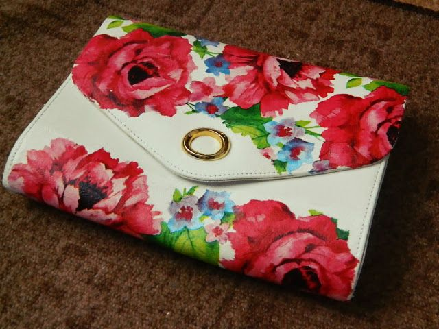 decoupage bag/ clutch diy