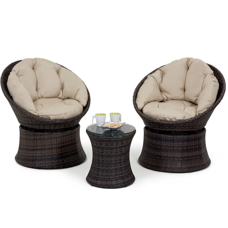 maze rattan swivel lounge chair set