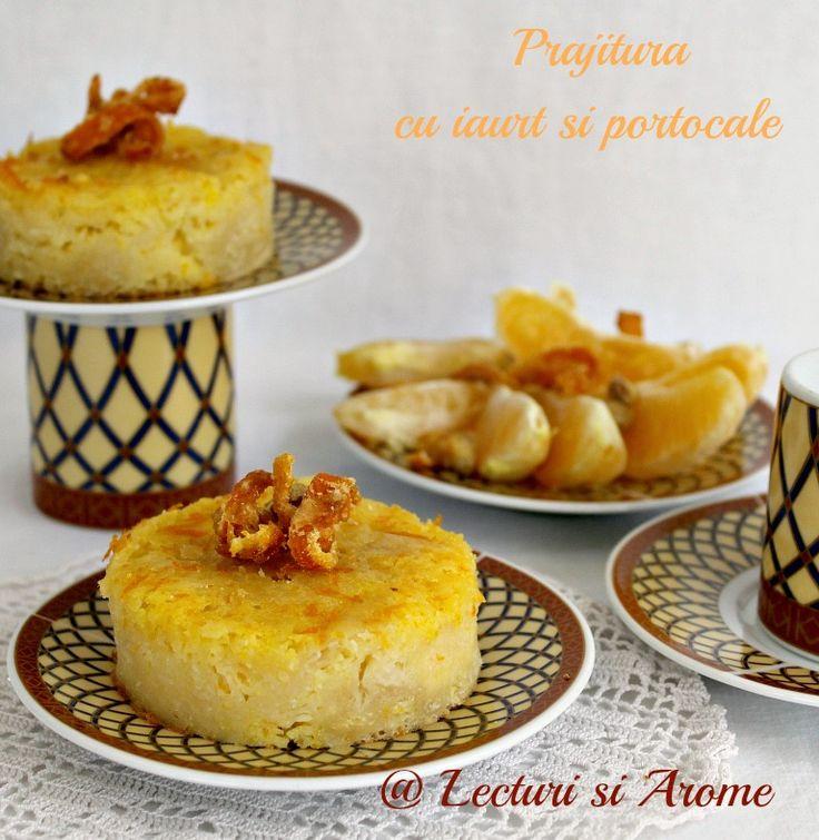 Prajitura cu iaurt si portocale