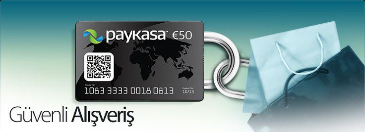 paykasa kart satın alarak güvenli alışverişler gerçekleştirebilirsiniz.
